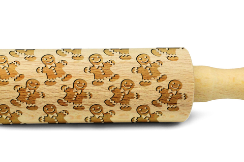 CHRISTMAS COOKIES engraved embossed embossing rolling pin MINI christmas PATTERN christmas gift kitchen utensil cookie cutter mini rolling pin for kids christmas gifts for kids