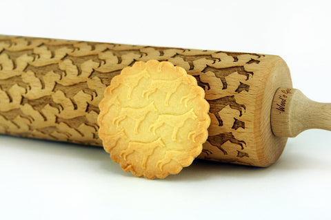 Dogs breeds pattern cookies, dogs rolling pin, pets cookies with dinosaurs pattern, best rolling pin, embossing rolling pin, funny gift for baking lovers
