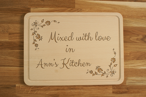 Personalized Engraved Chopping Cutting Board Kitchen Gift for Birthday Wedding