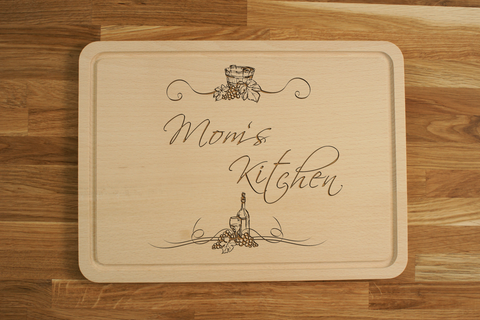 Personalized Engraved Chopping Cutting Board for Mother's Father's Day Birthday