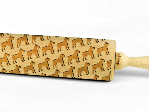 CHRISTMAS DESIGN – Embossing wooden rolling pin