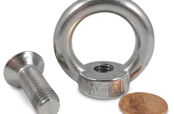 Load image into Gallery viewer, Stainless Steel Eyebolt with Screw - 304 SS Threaded Ring