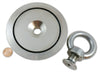 "1,000 LB Pull Round Neodymium Magnet with Countersunk Hole and Eyebolt, 4.72"" Diameter"