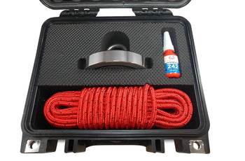"Load image into Gallery viewer, Brute Box 1,200 lb Magnet Fishing Bundle (4.72"" Magnet + Rope + Carabiner + Threadlocker)"
