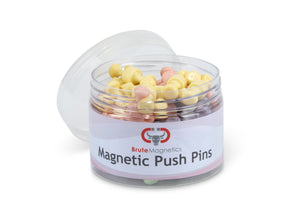 Pastel Neodymium Magnet Push Pins (50 or 100 pack)