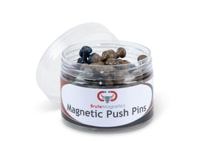 Dark Neodymium Magnet Push Pins (50 or 100 pack)