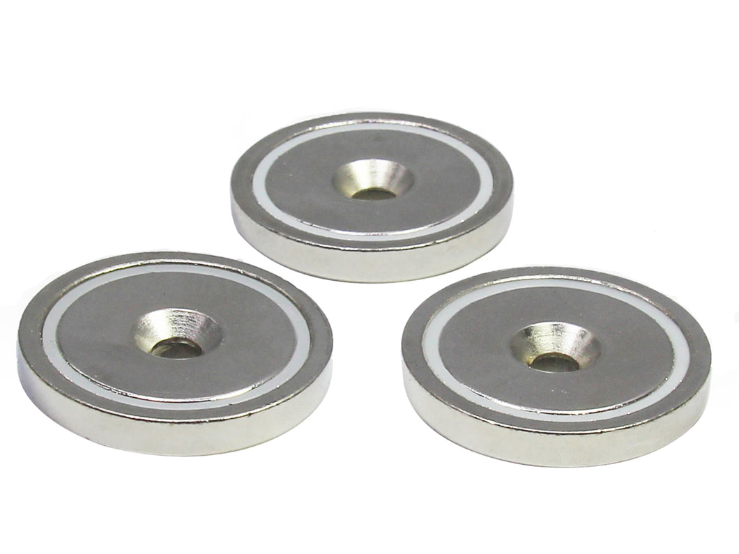 Round Neodymium Magnet with Countersunk Hole, 80 LBS Pulling Force, 1.65