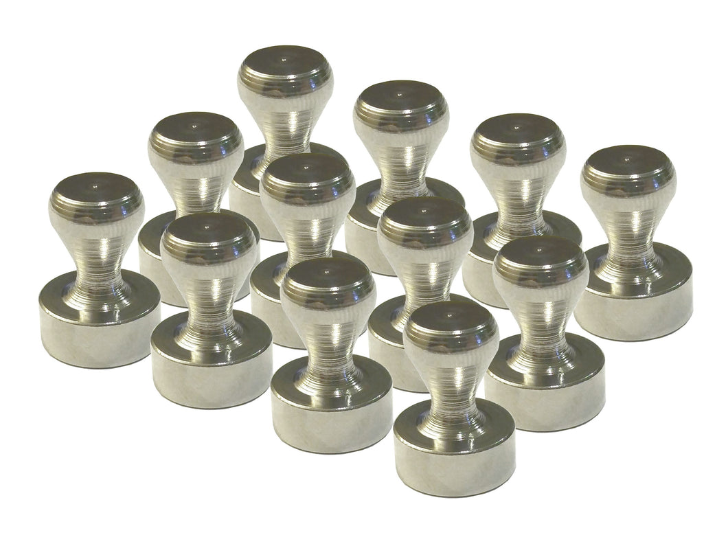 Brushed Nickel Magnetic Push Pins (12 pack)