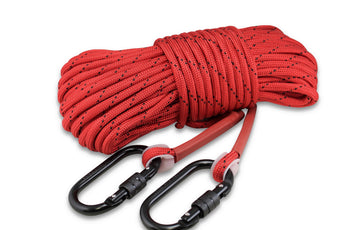 "Load image into Gallery viewer, Double Carabiner - Heavy Duty Double Braided  1/3"" rope (100')"