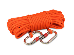 "Double Carabiner - Heavy Duty Double Braided  1/3"" rope (100')"