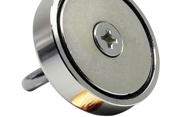 "Load image into Gallery viewer, Round Neodymium Magnet with Countersunk Hole, 300 LBS Pulling Force, 2.36"" Diameter - 1 count"