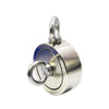 "1,200 LBS (combined) pulling force Double Sided Round Neodymium Magnet with Eyebolt, 3.70"" Diameter"
