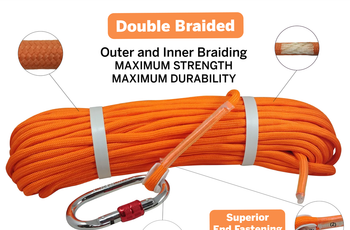 "Load image into Gallery viewer, Heavy Duty Double Braided  1/3"" rope, (65 or 100 ft)"