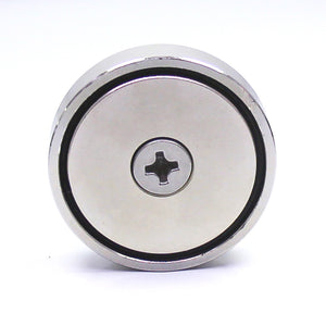 "300 LBS Round Neodymium Magnet with Countersunk Hole, 2.36"" Diameter - 1 count"