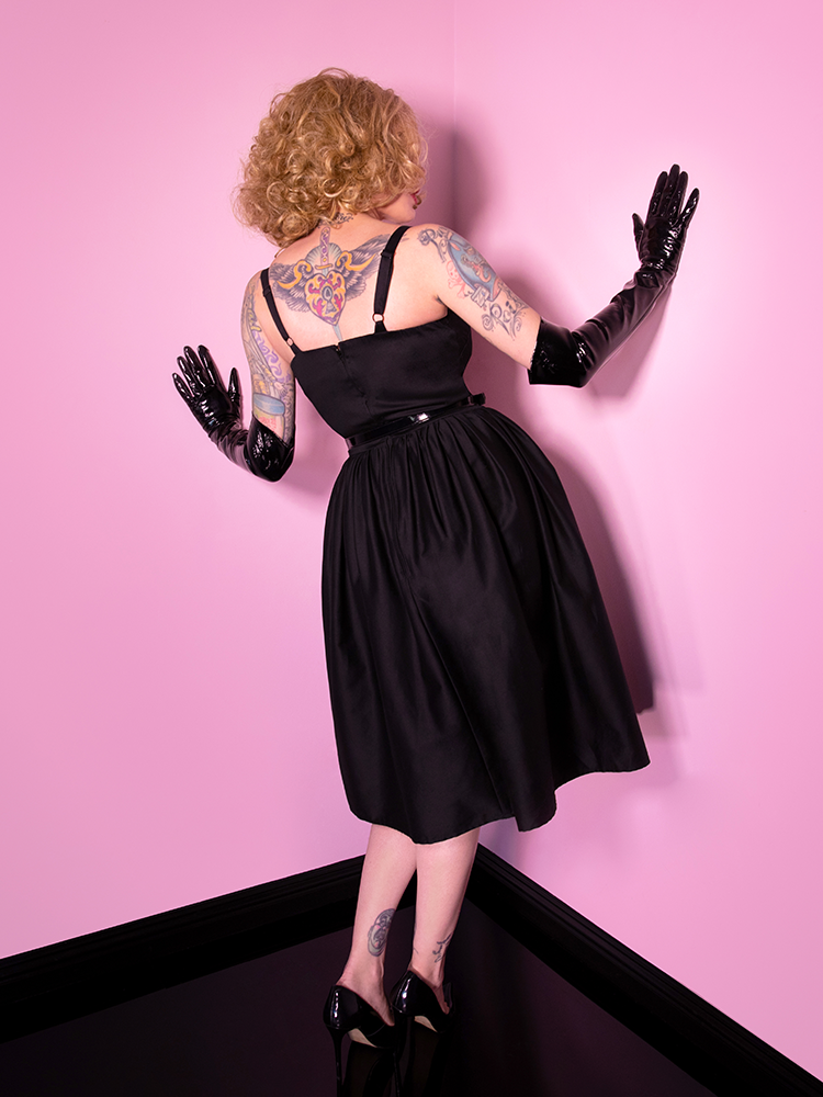 PRE-ORDER - Miss Kitty 9 Lives Dress in Black - Vixen by Micheline Pitt