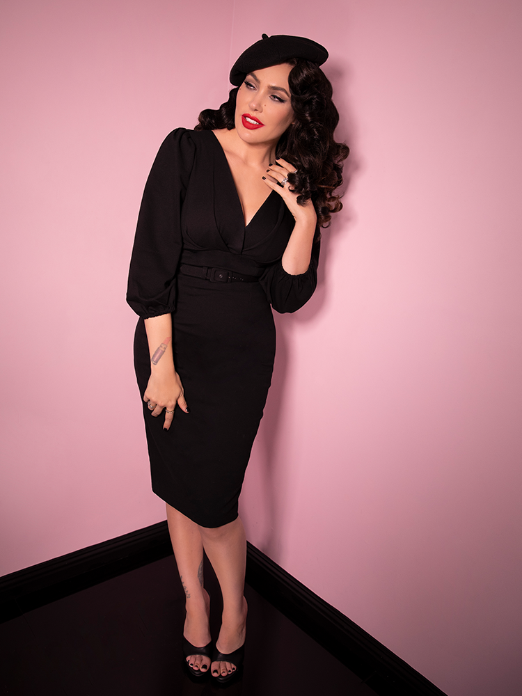 PRE ORDER - Bawdy Wiggle Dress in Black - Vixen by Micheline Pitt