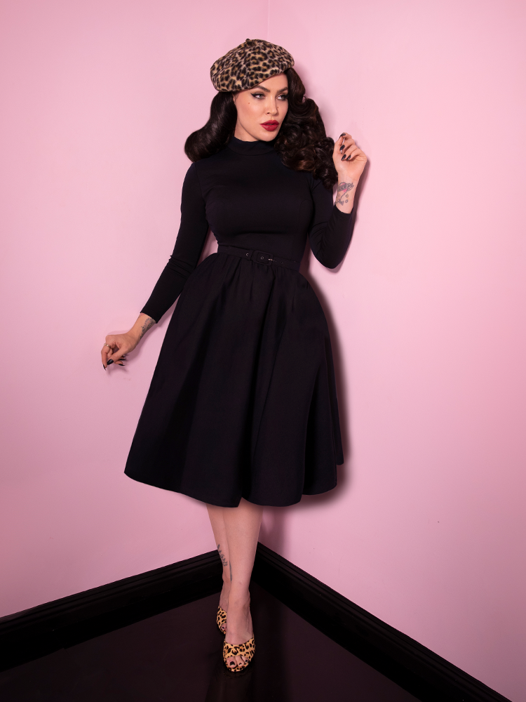Bad Girl Swing Dress in Black - Vixen by Micheline Pitt