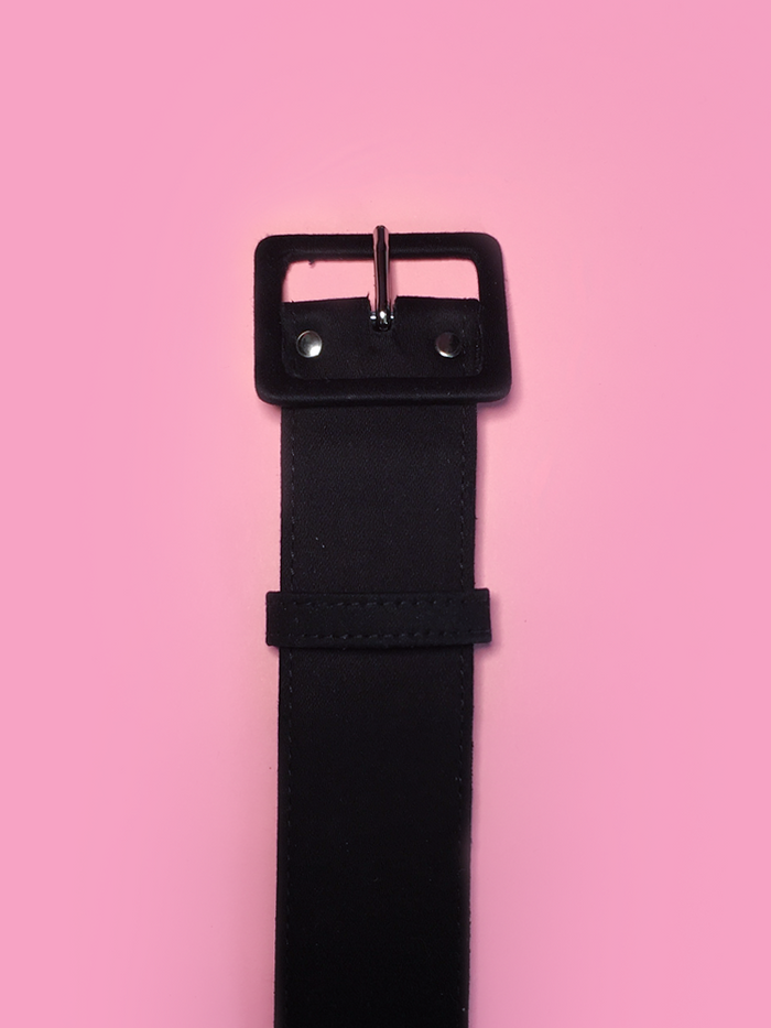 "1.5"" Belt in Black Sateen - Vixen by Micheline Pitt"