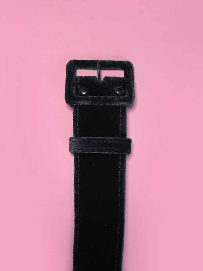 Belt in 1.5 inch Black Velvet - Vixen by Micheline Pitt