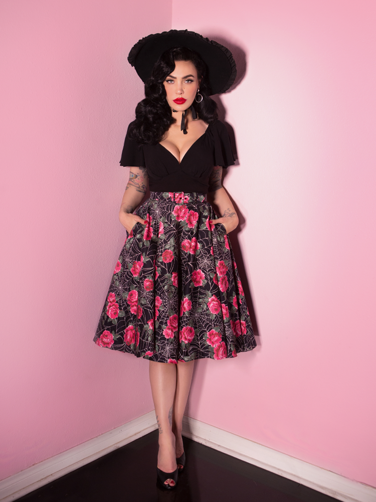 Circle Skirt in Spider Web - Vixen by Micheline Pitt