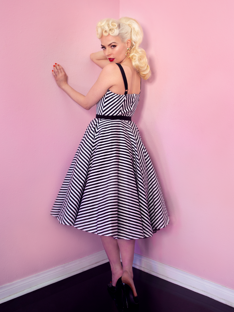 Dollface Dress in Black and White - Vixen by Micheline Pitt