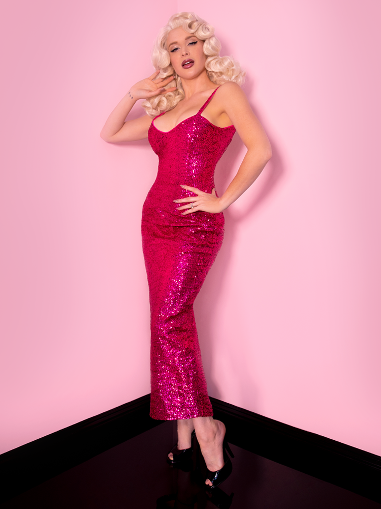 Glitz and Glamour Dress from retro clothing brand Vixen Clothing