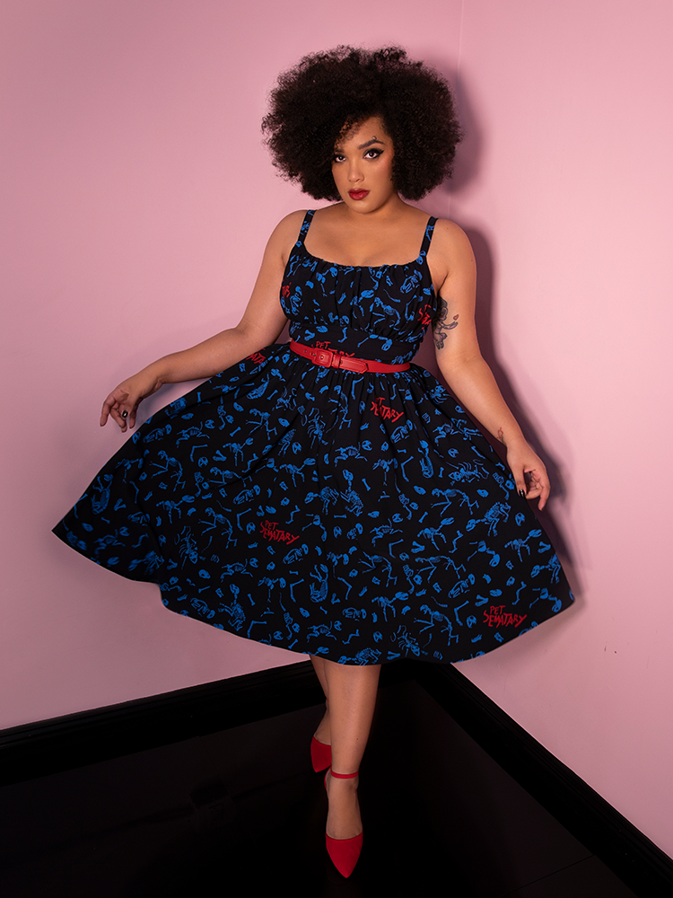 Pet Sematary Ingenue Dress in Better Off Dead Print - Vixen by Micheline Pitt