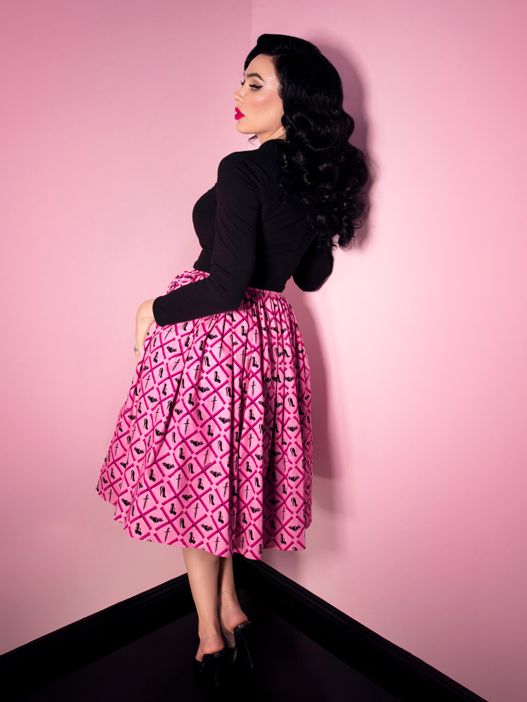 FINAL SALE - Vixen Swing Skirt in Mean Girls Club Print - Mean Girls Club X Vixen