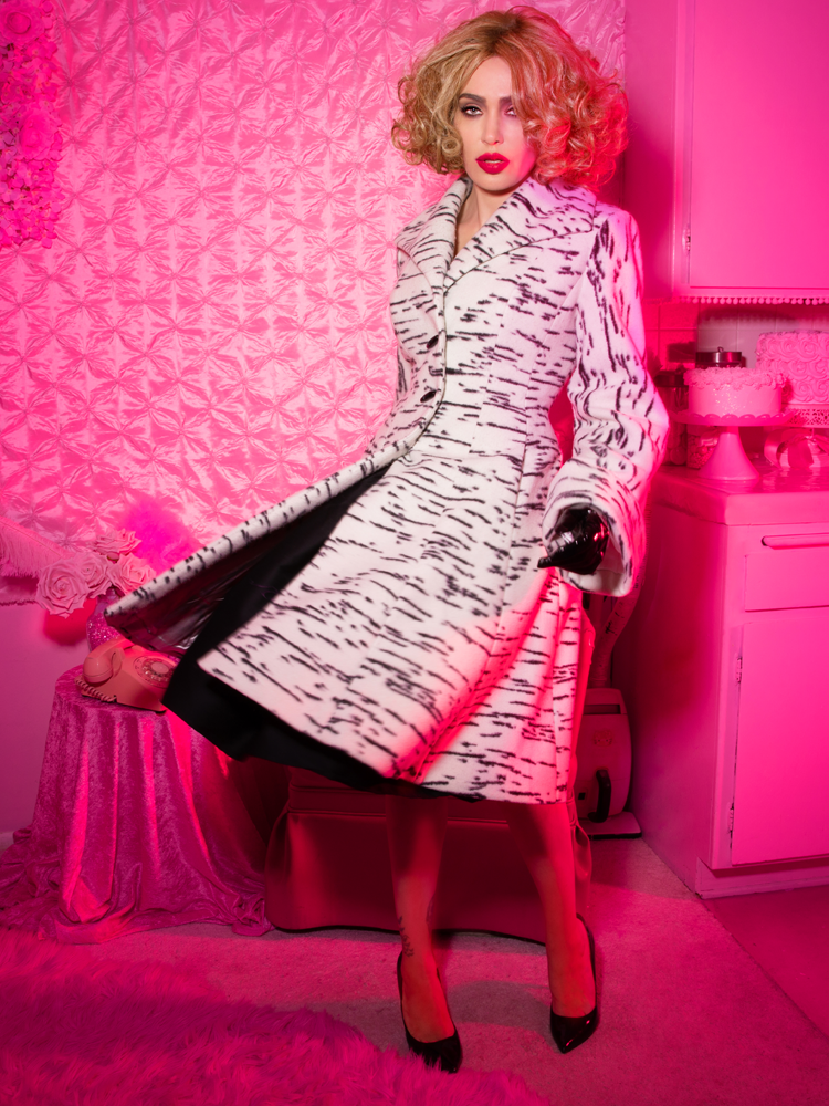 PRE-ORDER - Miss Kitty Coat in Cream - Vixen by Micheline Pitt