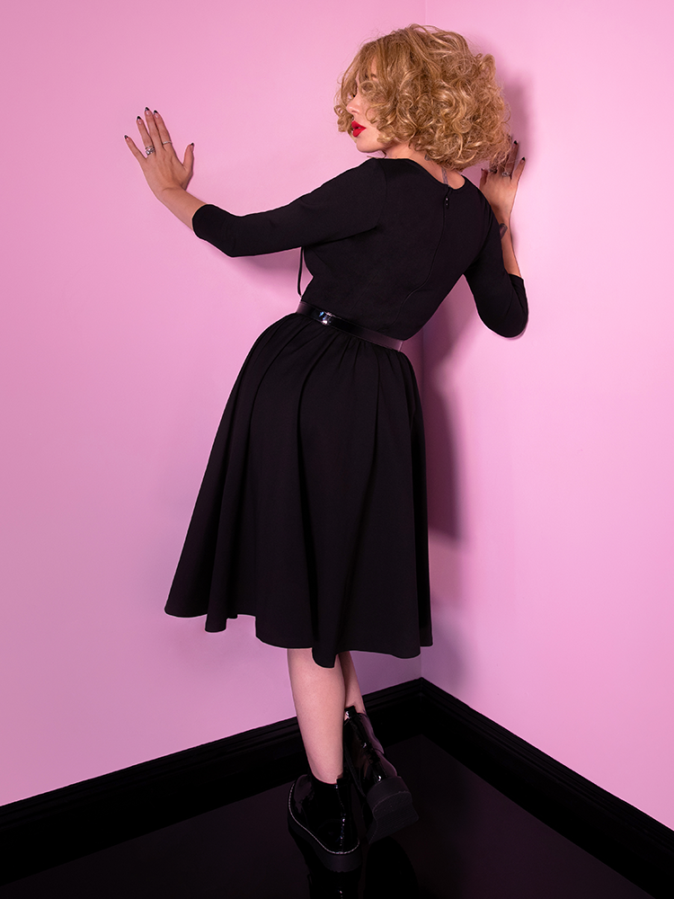 Miss Kitty Swing Dress in Black - Vixen by Micheline Pitt