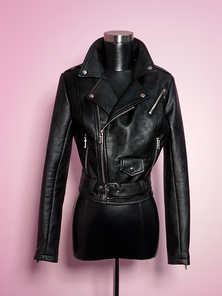 Bad Girl Cropped Motorcycle Jacket.