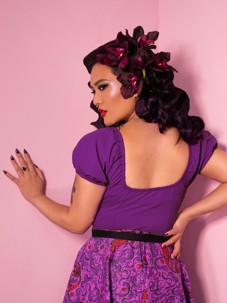 Powder Puff Top in Purple - Vixen by Micheline Pitt