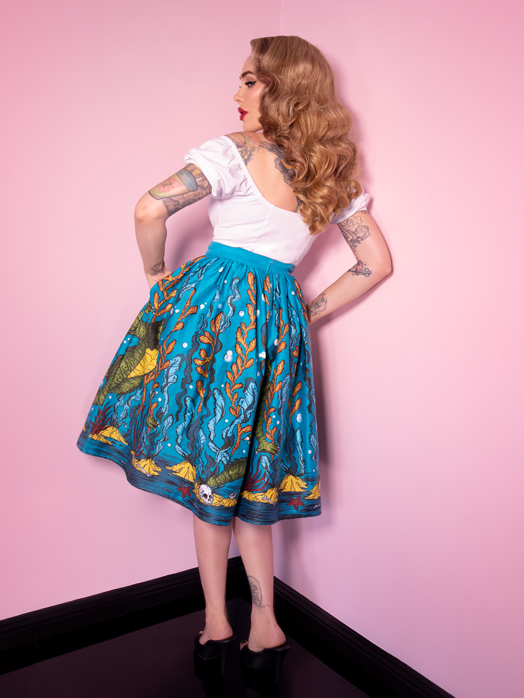 Vixen Swing Skirt in Swamp Monster Print - Vixen by Micheline Pitt