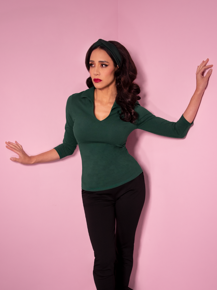Vixen Top in Hunter Green - Vixen by Micheline Pitt