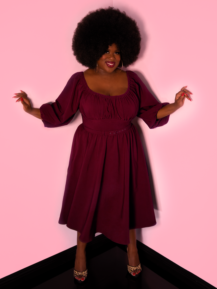 Vacation Dress in Burgundy - Vixen by Micheline Pitt
