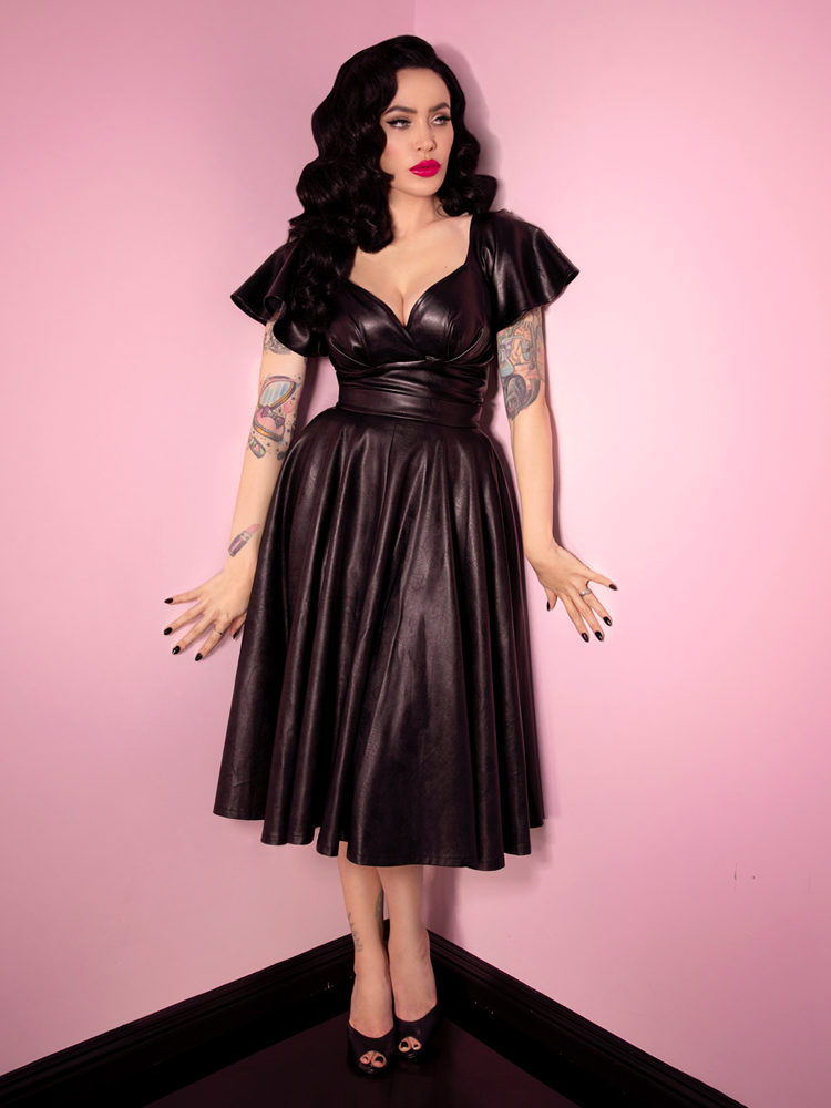 Bad Girl Vegan Circle Skirt - Vixen by Micheline Pitt