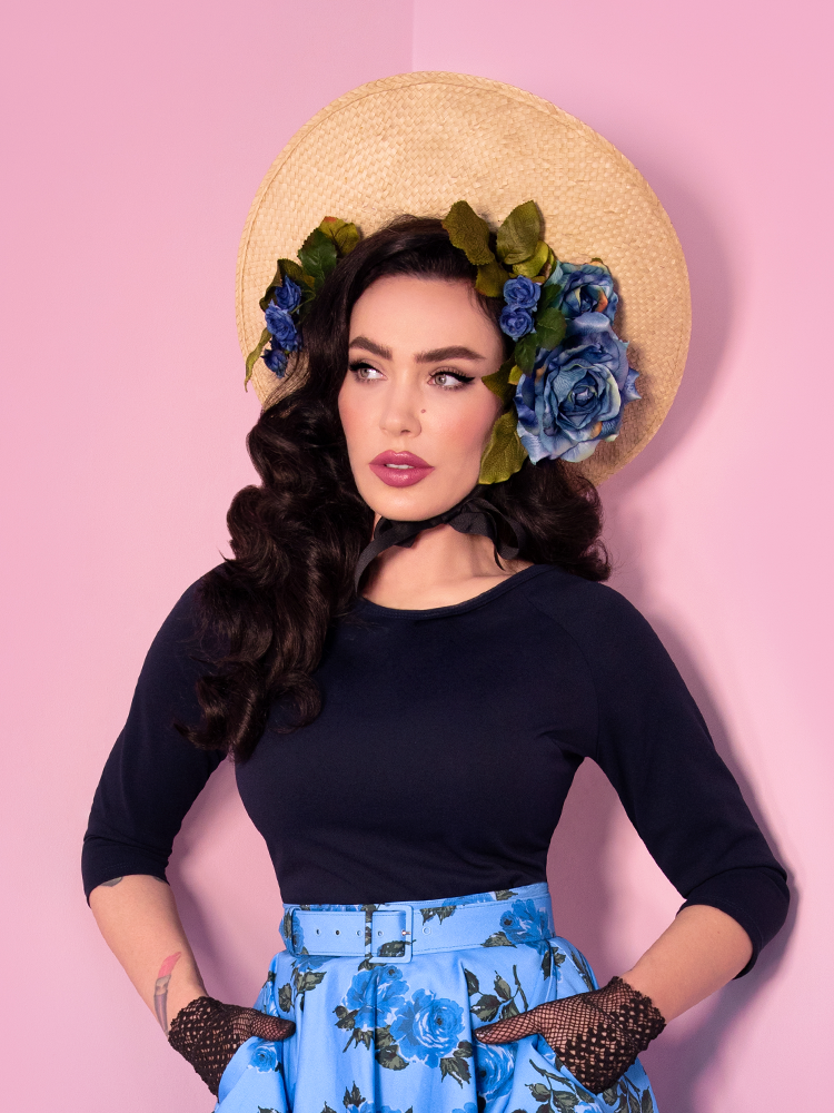 Wild Ways Vintage Top in Navy - Vixen by Micheline Pitt