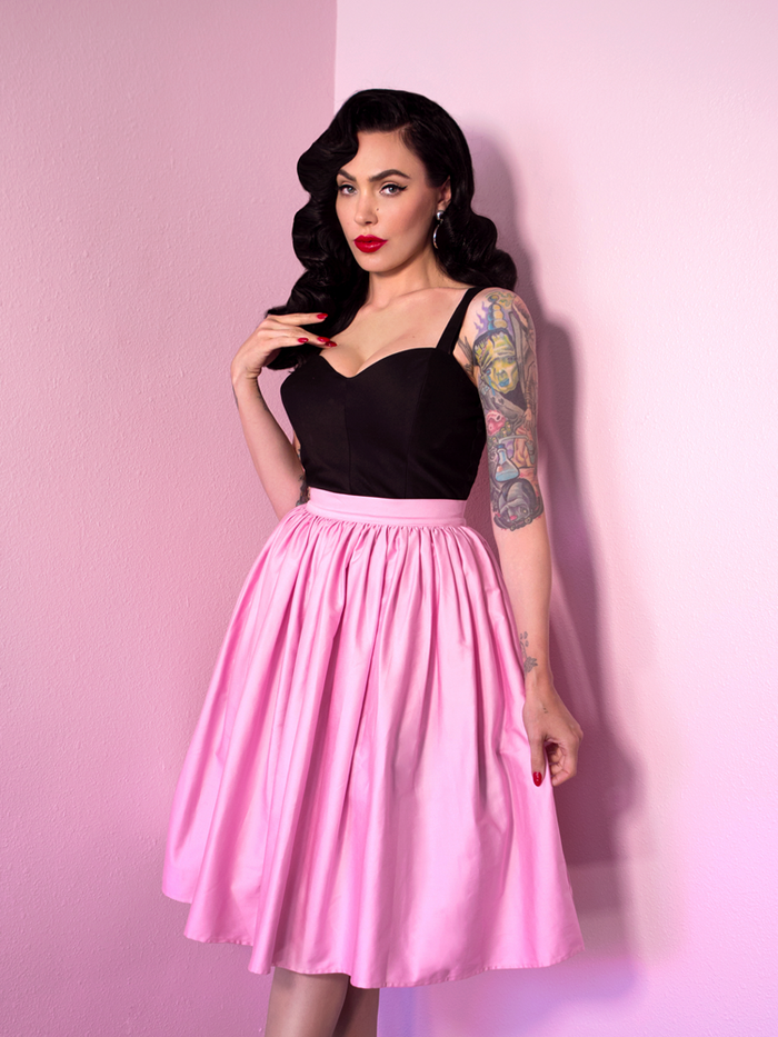 Limited Edition - Vixen Swing Skirt Powder Pink - Vixen by Micheline Pitt