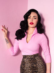 FINAL SALE - Vixen Top in Powder Pink - Vixen by Micheline Pitt