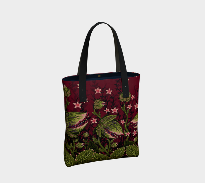 Tote - Maneating Monster Print - Vixen by Micheline Pitt
