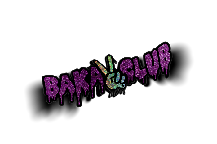 Baka Club Dripping Die Cut