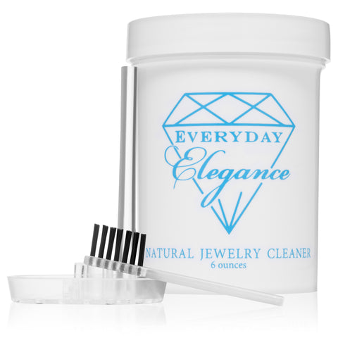 100% All Natural Jewelry Liquid Cleaner Solution | Non-Toxic Naturally Derived Cleaning Gold, Silver & Platinum Cleaning | 6 Ounce Jar