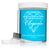 Fine Jewelry Cleaner Liquid Solution to Clean Gold, Platinum and Diamonds With Brush & Tray | 6 Ounce Jar