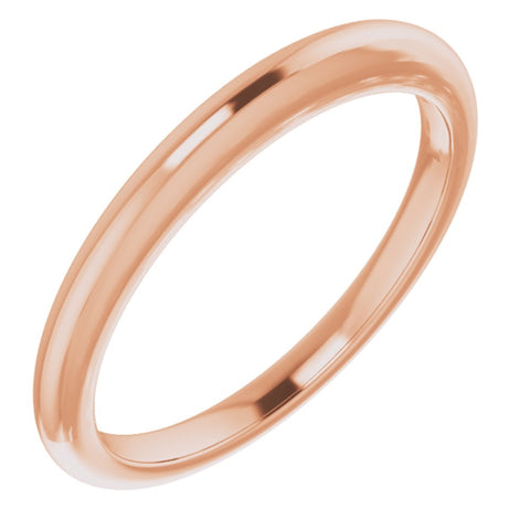 14K Rose Gold Matching Band for Moissanite Classic Solitaire Engagement Ring with 7mm x 5mm Oval Cut Center Stone | With Gift Box