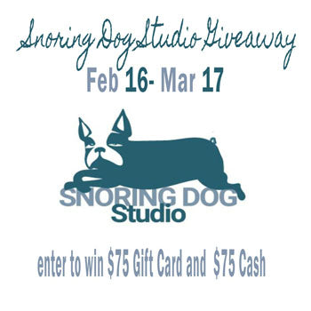 Win a $75 Gift Card to Snoring Dog Studio! And more!