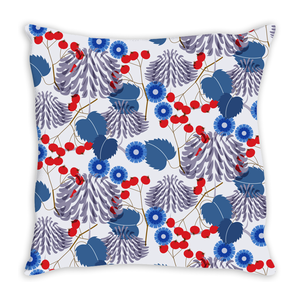 Winter Mums Floral Pillow Cover