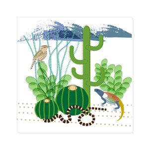 Cactus Visitors Canvas Wrap
