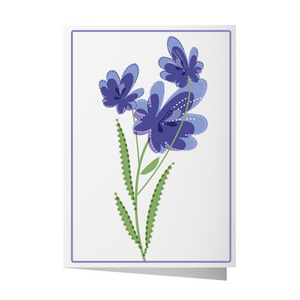 Blue Dot Flowers Greeting Card