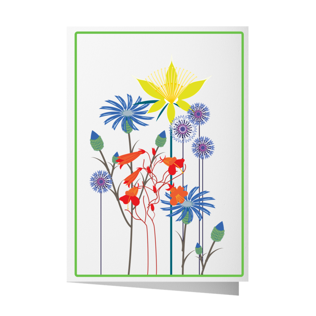 Foothills Flowers Greeting Card