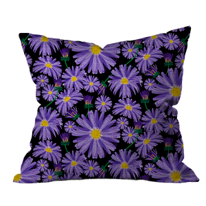 Aster Garden Floral Pillow Cover